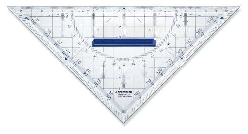 Staedtler Hypotenuse – Regla de tipo hipotenusa para geometría