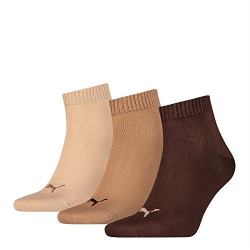 PUMA Unisex Quarter Socken Sportsocken 15er Pack chocolate / walnut / safari 717 - 39/42