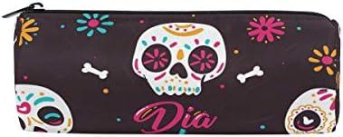 Bonipe coloré Sucre Tête de mort Floral Trousse Pochette Sac d'école papeterie Pen Box Zipper Cosmétique Sac de maquillage | La Qualité