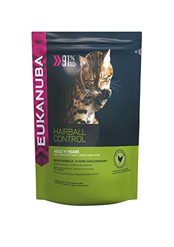 Eukanuba Premium Katzenfutter für Katzen mit Neigung zu Haarballen, Trockenfutter mit Huhn (1 x 2 kg)