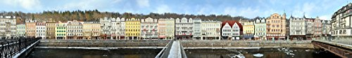 Panorama Streetline Karlsbad Tschechien Magnet (21 x 3.5 cm) Alte Wiese T3695P5589