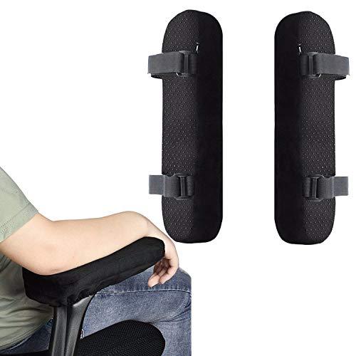 StyleZ 1 Paar Bürostuhl-Armlehnenpolster Ellbogen und Unterarme Druckentlastung Memory-Schaum Stuhl-Armlehnenbezug