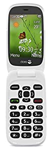 Doro 6530 Easy To Use 3G UK SIM-Free Mobile Phone - Black/White