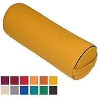 """Preisvergleich für Yoga- und Pilates-Bolster """"Made in Germany"""", 65 x Ø 23cm groß, mais-gelb, mit Dinkel-Füllung aus unserer Bodhi Manufaktur"""