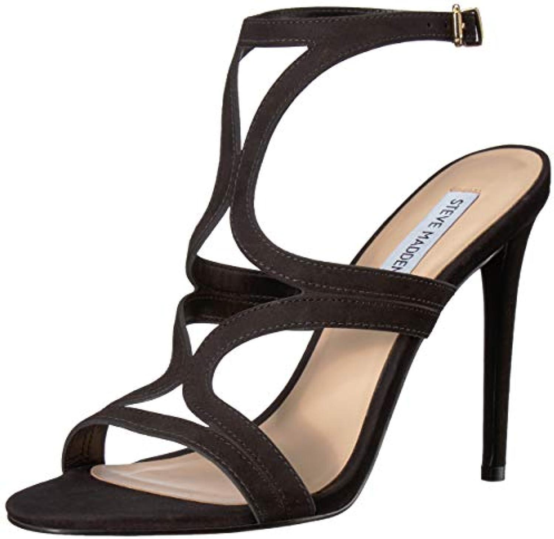 Steve Madden Wouomo Sidney Heeled Sandal, nero Nubuck, 10 M US   New Style    Maschio/Ragazze Scarpa
