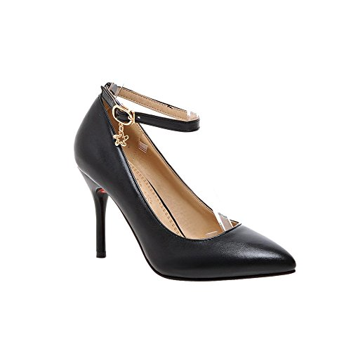 Guoar - Scarpe con cinturino alla caviglia Donna Nero