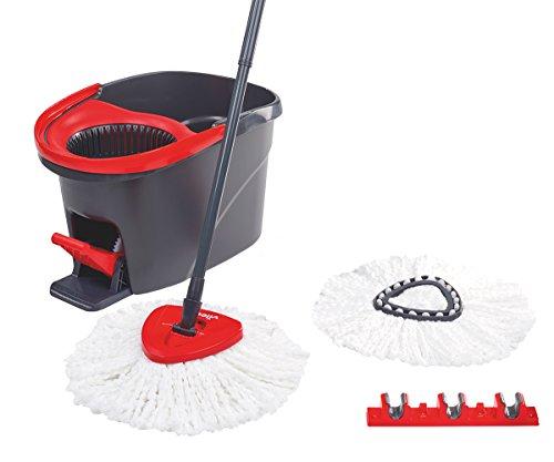 Vileda Bodenwischer EasyWring & Clean Komplett-Set mit zweitem Ersatzkopf und Stielehalter
