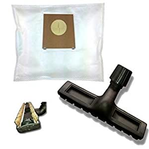20Fleece Vacuum Cleaner Bags with Horsehair Parquet Nozzle for Siemens Synchropower VS 06G 2030/02