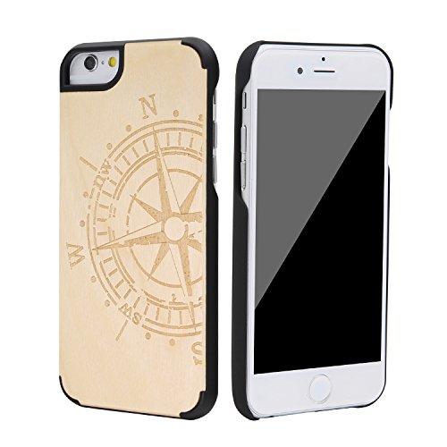 """SunSmart Housses classique en bois iPhone 6 Housse en bois naturel de protection pour iPhone 6 4.7"""" --35 28"""