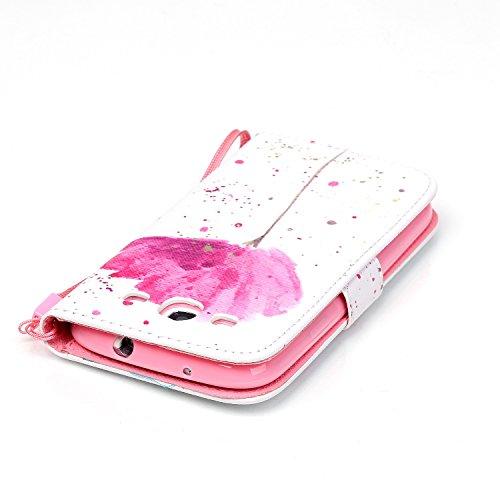 Meet de Samsung Galaxy S3 i9300 i9305 Bookstyle Étui Housse étui coque Case Cover smart flip cuir Case à rabat pour Galaxy S3 i9300 i9305 Coque de protection Portefeuille - this iphone is locked slide Une fleur rose
