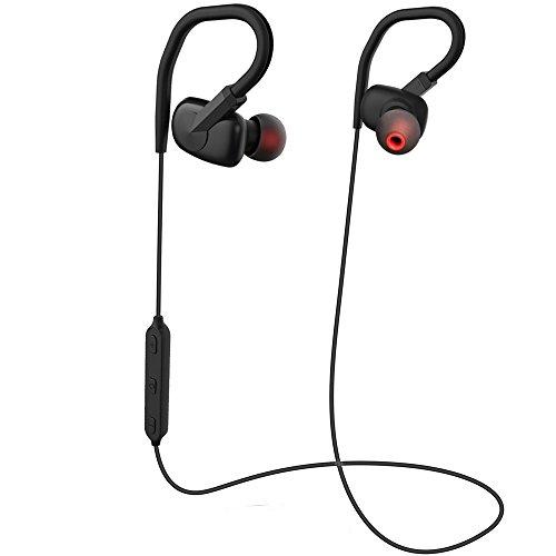 Coio Bluetooth-Kopfhörer Drahtlose Bluetooth 4.1 Stereo Ohrhörer mit Mikrofon Schweißfest Kopfhörer Noise Cancelling,Fit für Laufen, Radfahren,Wandern,Enthält iPhone 7, 7Plus, Samsung und andere Bluetooth-Geräte (Headset Ohren Kleine Bluetooth Für)