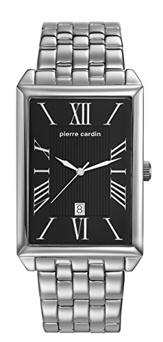 Pierre Cardin Men's Quartz Watch PC Belneuf - Analogue Watch with Date Stainless Steel Bracelet and Black Dial - 30 m/3ATM PC107211 °F13