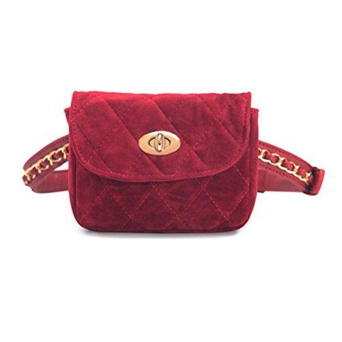 TTD Mode Kleine süße Taille Fanny Pack Tasche Handytasche für Frauen & Mädchen-Rot