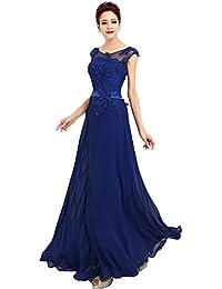 7712df40fad1 emmarcon Abito da Cerimonia Donna in Chiffon Damigella Vestito Lungo  Elegante da Festa Party