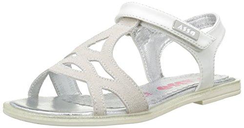 ASSO40740 - Sandali Bambina , Bianco (Bianco (White)), 38