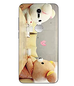 Case Cover Teddy Bear Printed Multicolor Soft Back Cover For Swipe Elite Plus