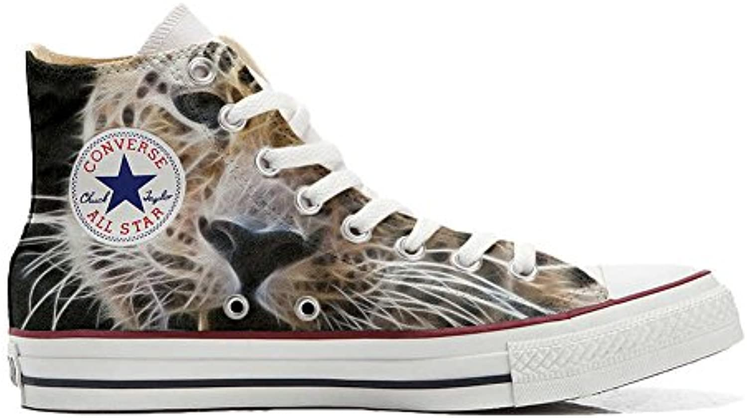 Converse All Star Personalisierte Schuhe (Custom Produkt) Tiger Style