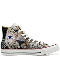 Converse All Star Customized - zapatos personalizados (Producto Artesano) Tiger Style