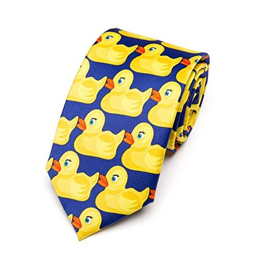 KYDCB Herren Gelb Gummi Ente Krawatte Mode Krawatte Von Hot Tv Zeigen, Wie Ich Ihre Mutter 8 cm Breite BowtieMänner GeschenkeTraf