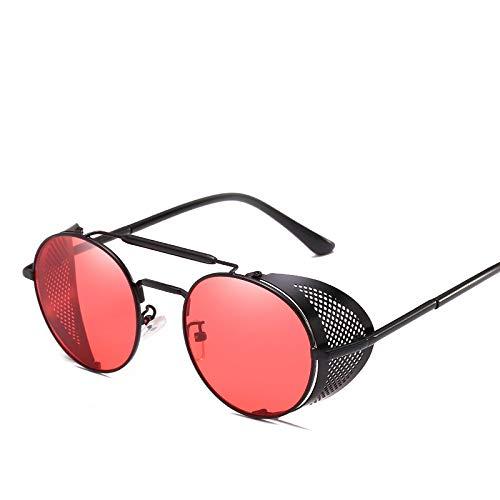 xinrongqu Gafas De Sol - Gafas De Sol Punk Gafas De Sol Polarizadas Para Hombres Ciclismo Deportivo Gafas Negras Con Marco Rojo