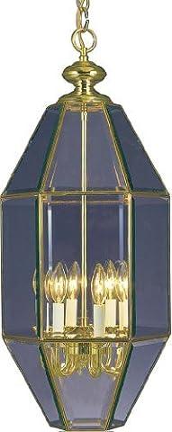 Volume Lighting 6-light polished brass bowl-shaped pendant by Volume Lighting