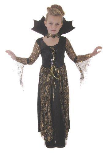 Halloween Spiderella Mädchen Kostüm Alter 7-9 (Mädchen Spiderella' Kostüme)