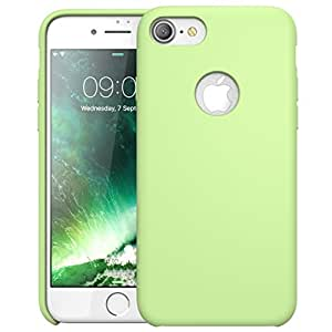 i-Blason Athena, Custodia Flessibile in Silicone, Design Elegante, Materiale Antiurto, per iPhone 7, Verde