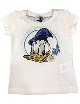 MONNALISA Paperino Bambina 191603S4 Bianco T-Shirt Primavera/Estate