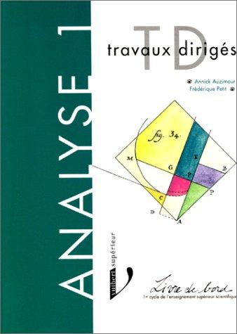 Analyse : Livre de bord - 1er cycle de l'enseignement supérieur scientifique