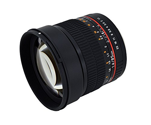 Great Buy for Rokinon AE85M-C 85mm F1.4 Aspherical Lens with Built in AE Chip for Canon DSLR Cameras (Black)