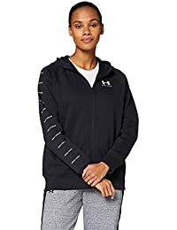 Under Armour Rival Fleece Sportstyle LC Sleeve Graphic - Sudadera con Capucha Mujer