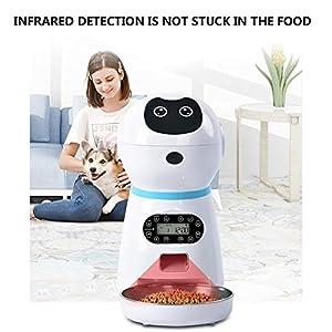 EZIZB Distributeur Automatique de Nourriture 4 Repas/Jour Pet Feeder Automatique Distributeur de croquettes Gamelle pour Chiens et Chats (3.5L)