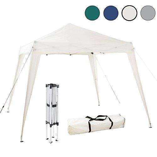 Arebos Pavillon faltbar / schneller Aufbau dank Falttechnik / Wasserabweisend / UV-Schutz / verschiedene Farben (Beige)