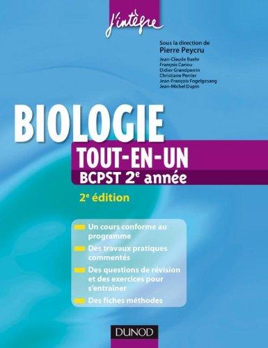 Biologie tout-en-un 2e année BCPST - Cours, TP, exercices, fiches méthodes
