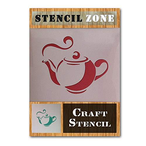 Tee-Topf-Küche Kaffeetasse Mylar Airbrush Painting Wall Art Crafts Stencil 3-S -