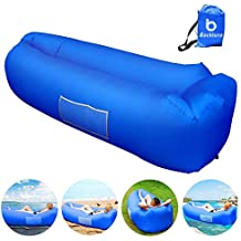 Backture Sofa Hinchable, Tumbona Inflable Cama con Almohada integrada, portátil Impermeable 210T Poliester Aire