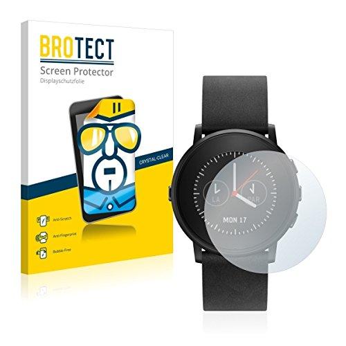 2X BROTECT HD Clear Bildschirmschutz Schutzfolie für Pebble Time Ro& (kristallklar, extrem Kratzfest, schmutzabweisend)