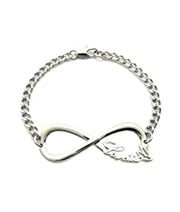 Lovatic - Super bracelet couleur argent à breloque du signe de l'infini Lovatic(TM) pour les fans