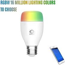 WiFi Ampoule,ELEGIANT umière chaude Ampoule, économies d'énergie, intelligent Bulb en Colore Dimmable , WiFi Lampe intelligente smart Wifi multicolor LED light bulb -Toute les couleurs de l'arc en ciel dans votre salon à votre guise en un click