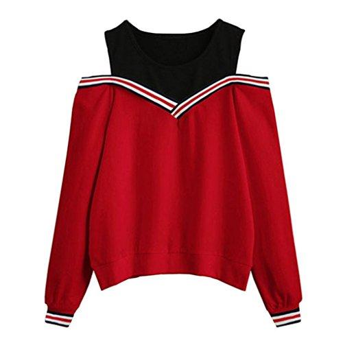 Felpa donna ragazza felpe tumblr, feixiang maglietta donna sexy off spalla maglione manica lunga felpa con cappuccio pullover top camicetta felpe primavera eleganti cappotto donna