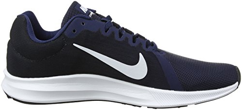 Nike Herren Downshifter 8 Laufschuhe Blau (Midnight Navy/white/dark Obsid 400)