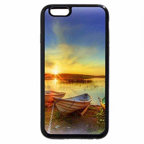 iPhone 3S/iPhone 6Coque (Noir) de Lac de vie..