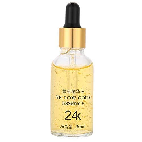 Peptidserum für Gesicht, 24K Gold Hyaluronsäure Serum konzentrierte sechs Peptid-Feuchtigkeitscreme Gesicht Whitening Straffende...