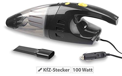 Lescars Beutelloser Nass- & Trocken-Auto-Staubsauger für 12-V-Anschluss, 100 W