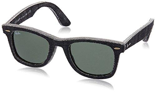 Ray-Ban Unisex Sonnenbrille Original Wayfarer Gestell: Schwarz, Gläser: Grün Klassisch 1162), Medium (Herstellergröße: 50)