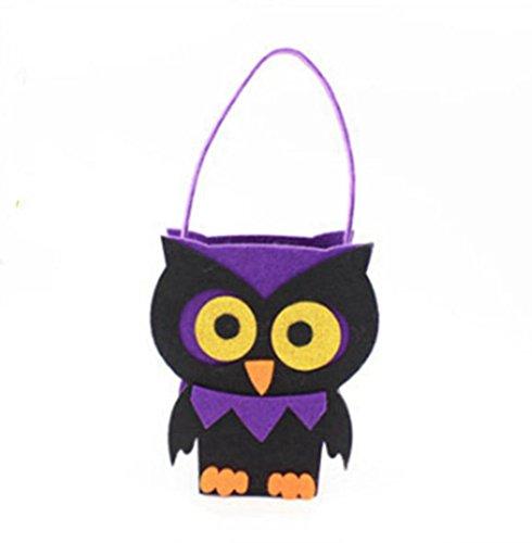 Lanlan Kinder Handtasche Kids Candy Biscuit Taschen Neue moderne cute nicht gewebter Stoff Halloween Eule Tuba (Cross Body Bourke)