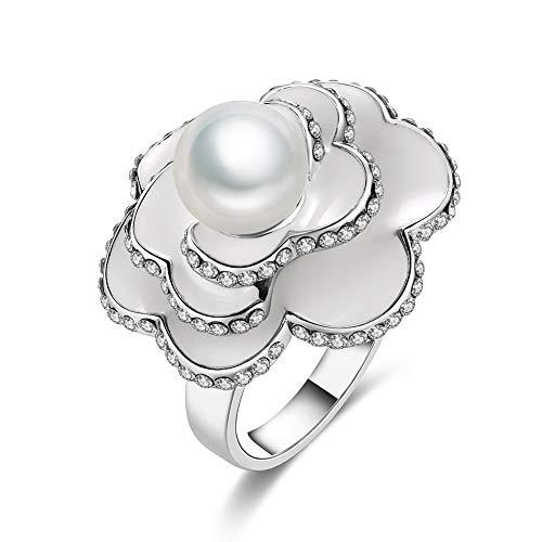 Thumby-ring Weiblicher Romantischer Ball Zircon-Kupferner Geometrischer Flacher Ring K...