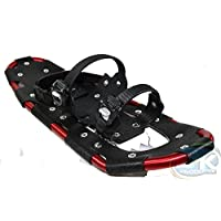 Snowshoes SNOW GLIDER red aluminium with carry bag for shoe sizes 38 to 47