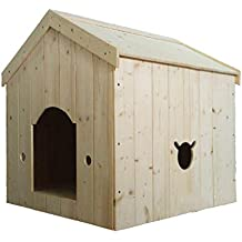 Casa de Madera para Mascotas Cuatro Estaciones Pet Waterloo Cama de Madera Maciza Cat House Durable