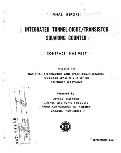 Integrated tunnel-diode/transistor squaring counter Final report (English Edition)